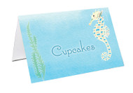 Sea Horse Party Personalised Place Cards, Name Cards, Buffet & Lolly jar cards