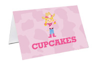 Cowgirl Party Personalised Place Cards, Name Cards, Buffet & Lolly jar cards