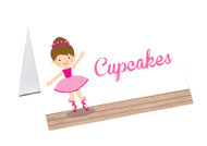 Ballet Party Personalised Place Cards, Name Cards, Buffet & Lolly jar cards