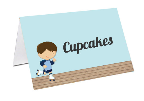 Rollerskating Party Personalised Place Cards, Name Cards, Buffet & Lolly jar cards
