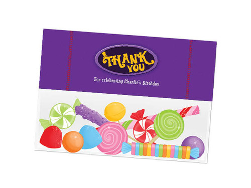 Willy Wonka party themed personalised birthday party lolly bag, loot bag and party favour bags.