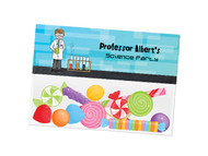 Science party themed personalised birthday party lolly bag, loot bag and party favour bags.