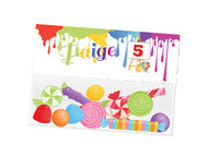 Art Paint party themed personalised birthday party lolly bag, loot bag and party favour bags.