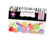 Glamour Pamper party themed personalised birthday party lolly bag, loot bag and party favour bags.