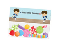 Boys Roller Skating party themed personalised birthday party lolly bag, loot bag and party favour bags.