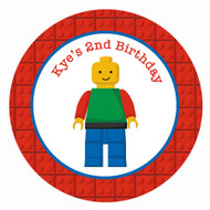 Lego Birthday Party Personalised Party Labels & Stickers and stickers