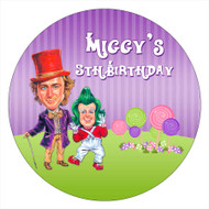Wonka Birthday Party Personalised Party Labels & Stickers and stickers