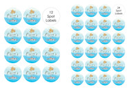 Shark Under the Sea Personalised Party Labels & Stickers & Stickers.