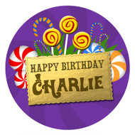 Willy Wonka Party Personalised Party Labels & Stickers & Stickers.