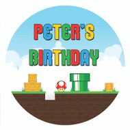 Marios Bros Party Personalised Party Labels & Stickers & Stickers.