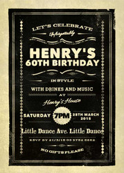 Vintage 60th Birthday Party Invitations