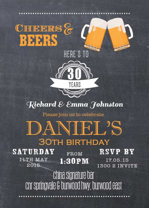 Cheers Beers Party Invitation