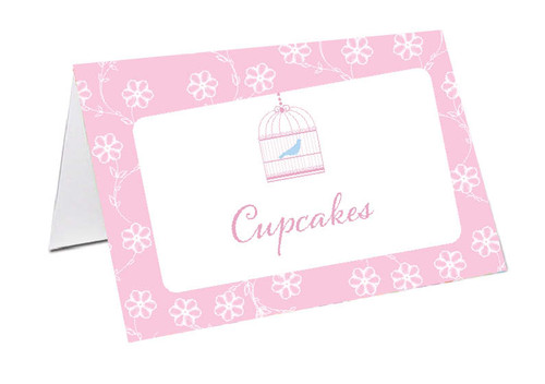Bird in a Cage Personalised Place Cards, Name cards & Buffet cards