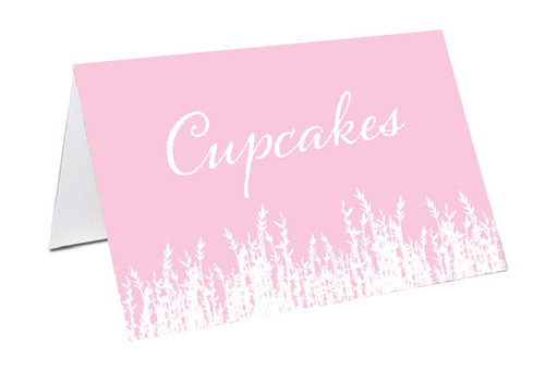 Pink Fields Personalised Place Cards, Name cards & Buffet cards