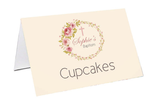 Vintage Floral Personalised Place Cards, Name cards & Buffet cards.