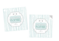Winter Wonderland Party Personalised Square Labels, Square Stickers and Square Tags.