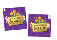 Willy Wonka Personalised Party Stickers, Labels and Tags.