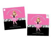 Glamour Pamper Party Personalised Party Stickers, Labels and Tags.