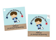 Boys Roller Skating Party Personalised Party Stickers, Labels and Tags.