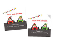 Go Karting Party Personalised Party Stickers, Labels and Tags.