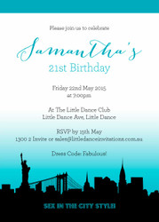Sex in the City Personalised Party Invitations.