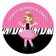 Glamour Birthday Party Personalised Stickers & Labels
