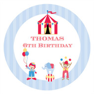 Retro Circus Birthday Party Personalised Edible image, Birthday cake & cookie icing sheets.