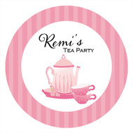 Tea Party Birthday Cake Icing & Personalised cake, cookie & cupcake icing sheets.