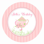 Tea Party Alice in Wonderland Personalised Birthday Cake Edible Image, Cake Icing.