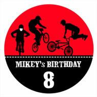Birthday Cake Edible Image - BMX Bike Red