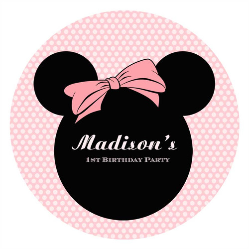 Minnie Mouse Birthday Party Personalised Birthday Cake Edible Image, Cake Icing.