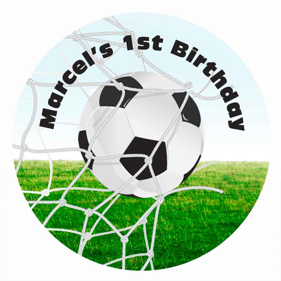 Sensational Custom Edible Icing Image Cake Topper Kids Soccer Party Personalised Birthday Cards Paralily Jamesorg