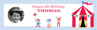 Retro Circus Photo Personalised Party Banner