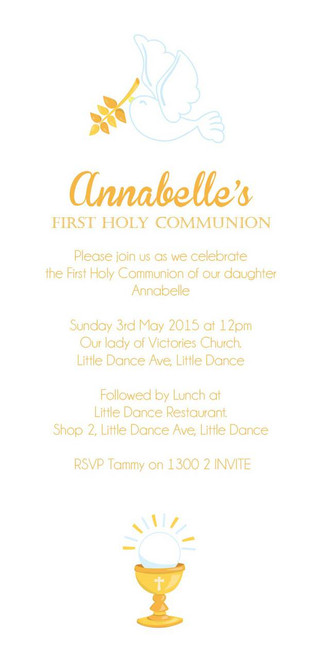 First Holy Communion Invitations.