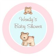 Baby Bear Personalised Customised Baby Shower Cake Icing - Edible Images.