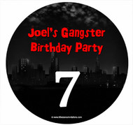 Gangster or Mobster Personalised Birthday Cake Icing Sheet - Edible Image.
