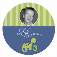 Little Dinosaur Personalised Birthday Cake Icing Sheet - Edible Image.