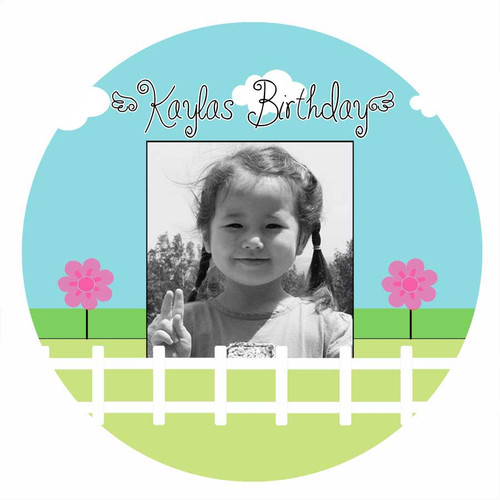 Hello Springtime Personalised Birthday Cake Icing Sheet - Edible Image.