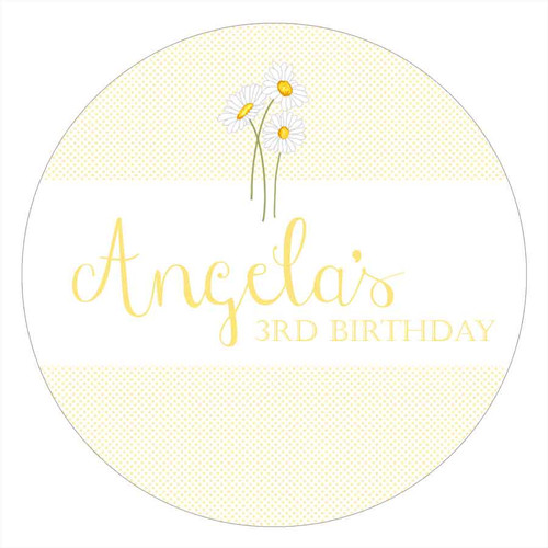 Daisy Personalised Birthday Cake Icing - Edible Image.
