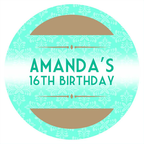 Event Ticket Personalised Birthday Cake Icing - Edible Image.