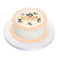 Mad Hatters Tea Party Personalised Birthday Cake Icing.