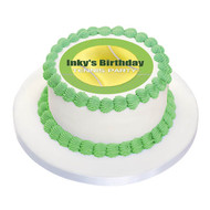 Tennis Party Personalised Birthday Cake Icing.