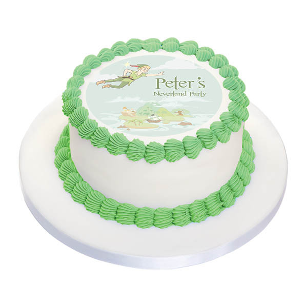 Cool Birthday Cake Edible Image Peter Pan Neverland Personalised Birthday Cards Paralily Jamesorg