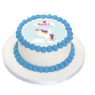 Unicorn Party Personalised Birthday Cake Icing.