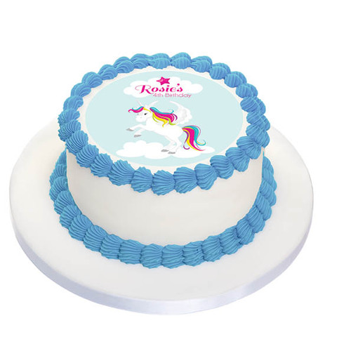 Unicorn Party Personalised Birthday Cake Icing.
