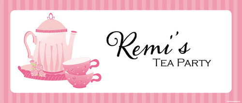 Tea Party Birthday Party Banner.