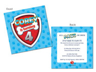Paw Patrol inspired party invitations