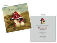 Vintage Red Toadstool Party Invitations