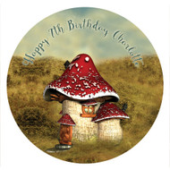 Vintage Toadstool Party Labels & Stickers Stickers
