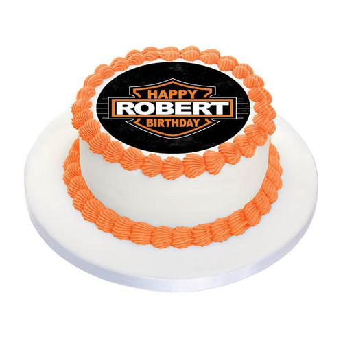 Harley Davidson Personalised Birthday Cake Icing